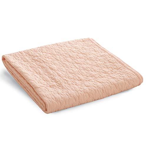 Bedsure 敷きパッド 綿100% ベッドパッド コットン ピンク 洗える 水洗い シングル 100×205cm 和風