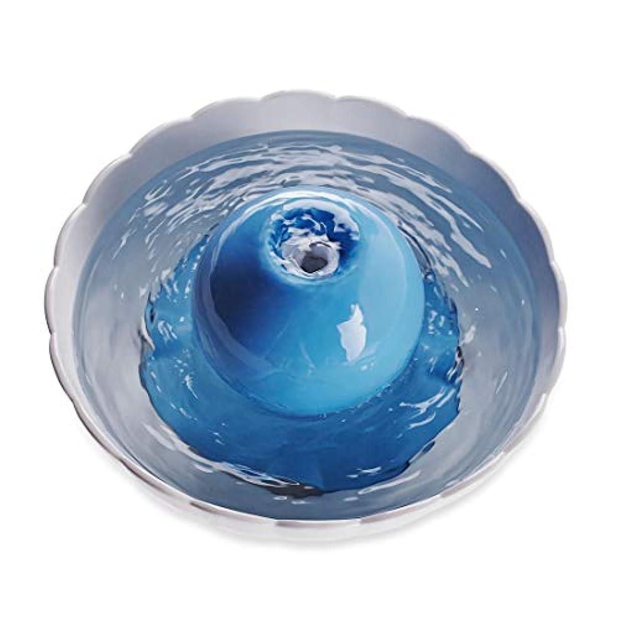曲阜市德峰便民冷饮超市 ペット自動水ディスペンサーセラミック酸素フィルターキャットドッグウォーターフィーダー (色 : Globe White)
