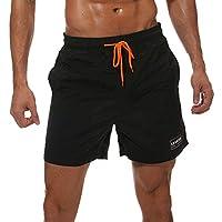 casuress Men's Swim Trunks Quick Dry Summer Beach Board Shorts with Pockets