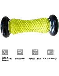 足のマッサージローラー、足底筋膜炎、ヒール&フットアーチペイントマッサージ救護ストレスとリラクゼーションフルボディのための多機能,Black