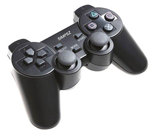 【SIMPSZ】4way ワイヤレスコントローラーⅡ (PS3/PS2/PS/PC 対応) 2.4ghz 無線 コントローラー