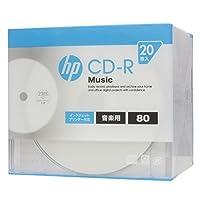 hp(ヒューレット・パッカード) 音楽用CD-RA ホワイト・ディスク(スリムケース) 20枚
