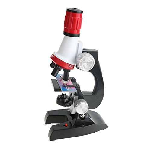子供顕微鏡セット 初心者顕微鏡セット マイクロスコープ ミニ顕微鏡 100X...