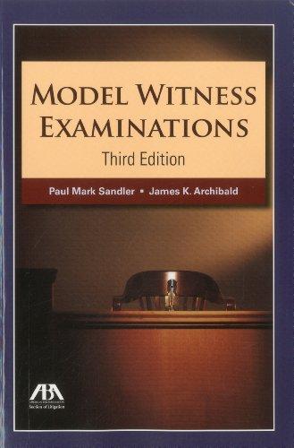 Download Model Witness Examinations 1604429100