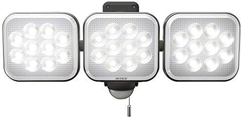 ライテックス 12W×3灯 フリーアーム式 LEDセンサーライト LED-AC3036