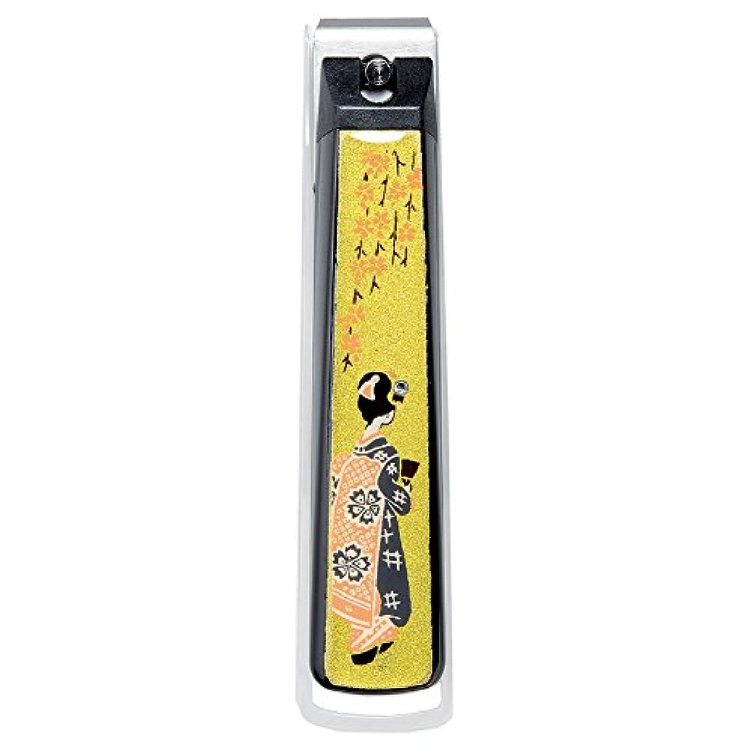 バンドル集中的なノベルティナガオ 日本製 蒔絵 爪切り 桐箱入 舞妓 MN-6