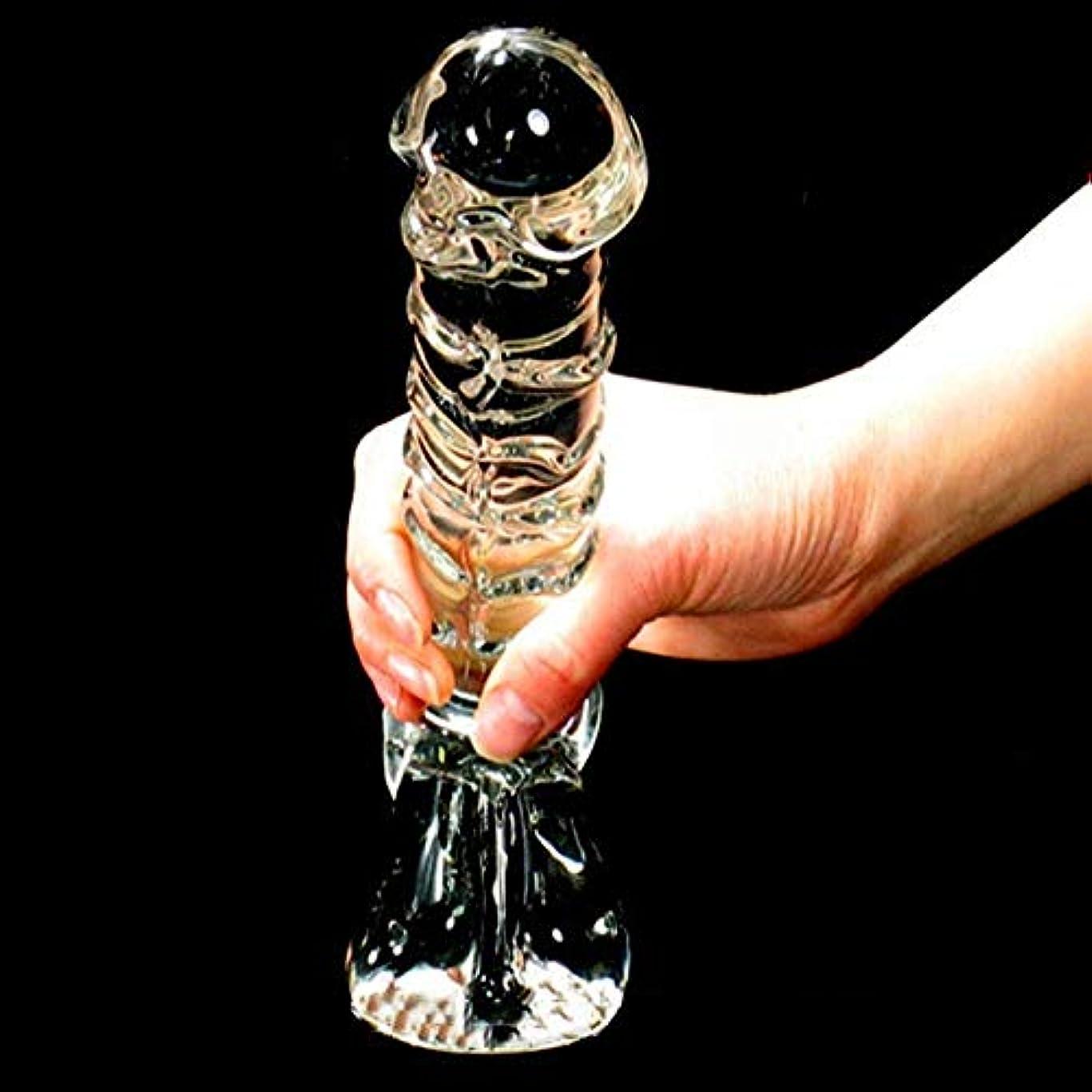 乗算正直放散するKGJJHYBGTOY オナニー女性ガラス大きなガラスペニス大人のガラスウェア大人向け製品 RELAX MASSAGE BODY