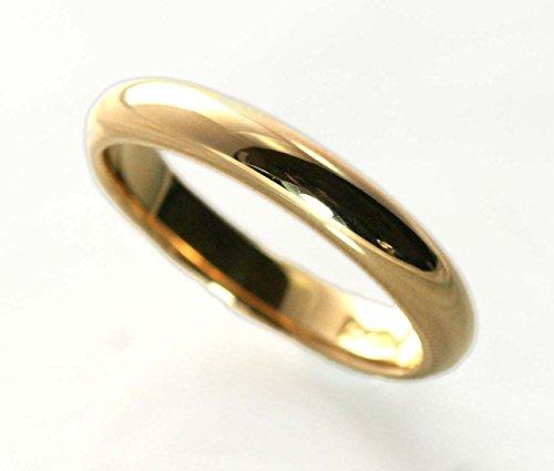 刻印無料 シンプル ハンドメイド マリッジ リング 結婚 指輪 K18 ゴールド 甲丸 ペアリング [ジュエリー]