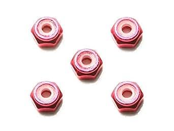 2mmアルミロックナット (ピンク5個)
