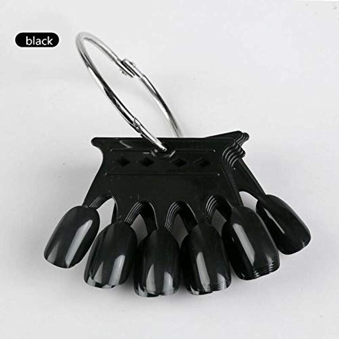 原子炉壊れたメディア10pcs Black Crown Shaped Nail Art Display Tips False Nail Tips Fake Palette Acrylic UV Gel Polish Manicure Practice...