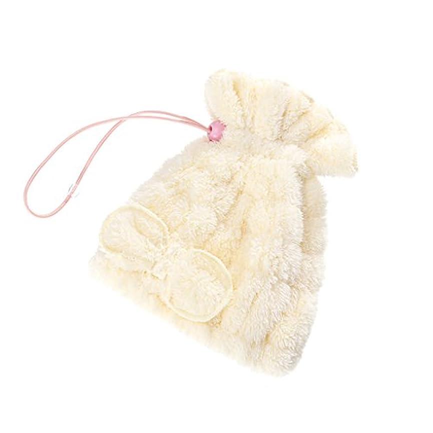 雪の取得中絶シャワーキャップ より厚い子供の乾燥髪のキャップ速乾吸水乾燥髪タオル髪乾燥タオルピンクシャワーキャップ黄色シャワーキャップ (Color : 2#)