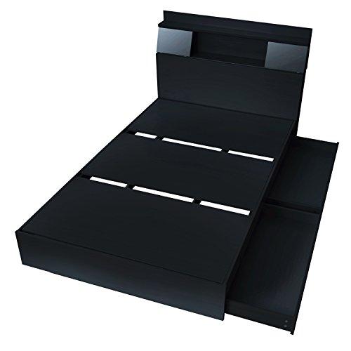 グラード 収納付き スライド扉 ベッドフレーム セミダブル