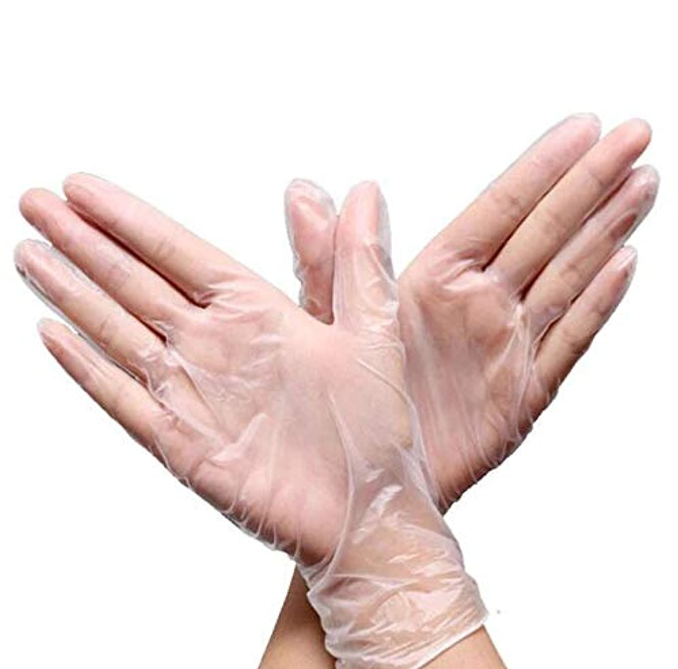 リーク薬局レシピSTK ニトリルゴム手袋 使い捨て手袋 透明 耐油 防水 左右兼用 粉なし 手荒れを防ぎ 素手 薄い 介護 トイレ掃除 園芸 美容 食器洗い (50ペアセット)