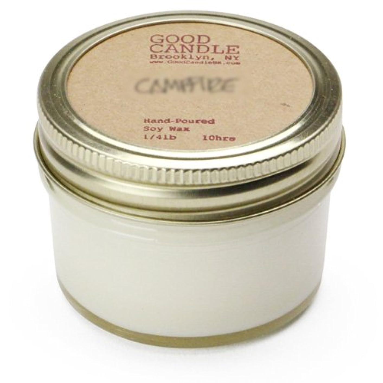 微視的統計的木製グッドキャンドル 1/4ポンド ゼリージャー キャンドル Good Candle 1/4LB Jelly jar candle [ Camp fire ] 正規品