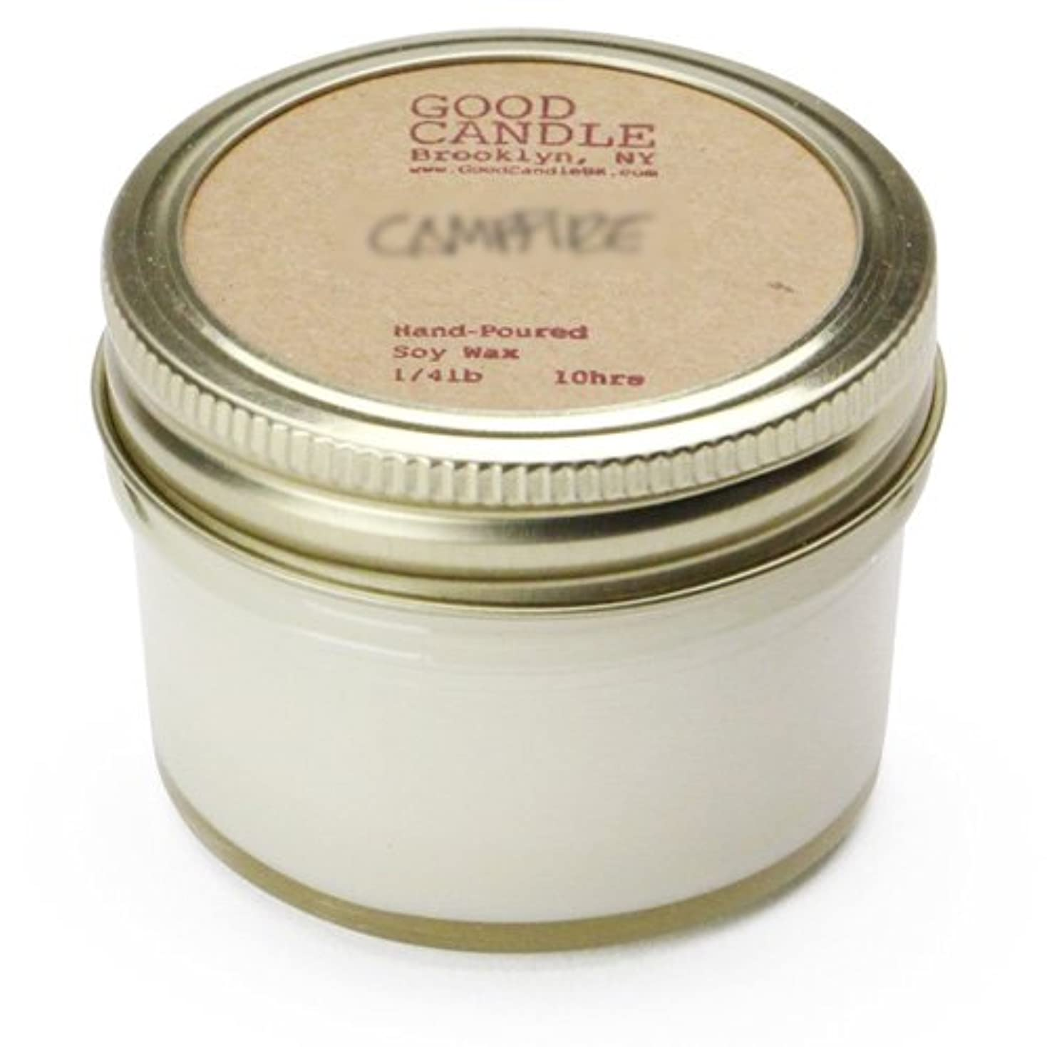収容する自伝パーセントグッドキャンドル 1/4ポンド ゼリージャー キャンドル Good Candle 1/4LB Jelly jar candle [ Camp fire ] 正規品