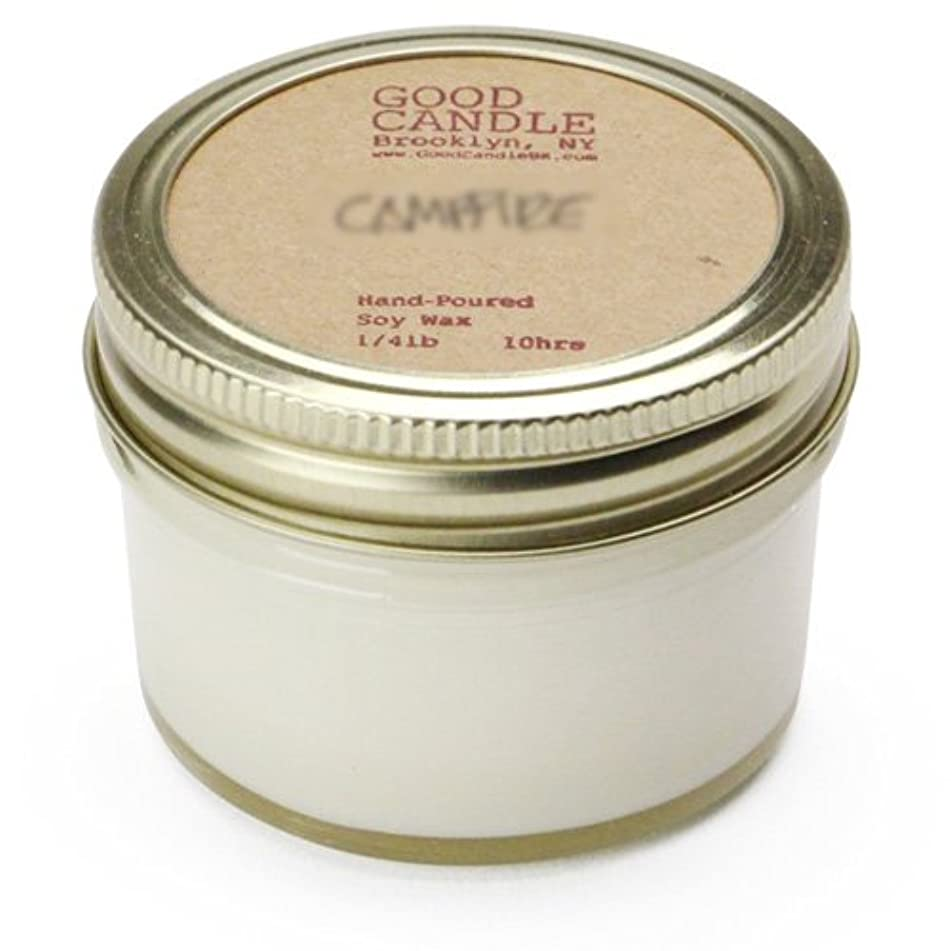 好き自治的ブレースグッドキャンドル 1/4ポンド ゼリージャー キャンドル Good Candle 1/4LB Jelly jar candle [ Camp fire ] 正規品
