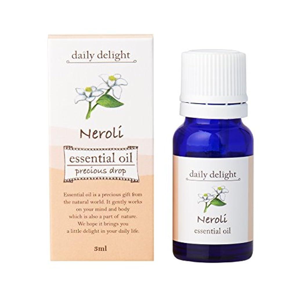 リネン種類予防接種デイリーディライト エッセンシャルオイル  ネロリ 3ml(天然100% 精油 アロマ フローラル系 ややグリーンがかった爽やかな香り)