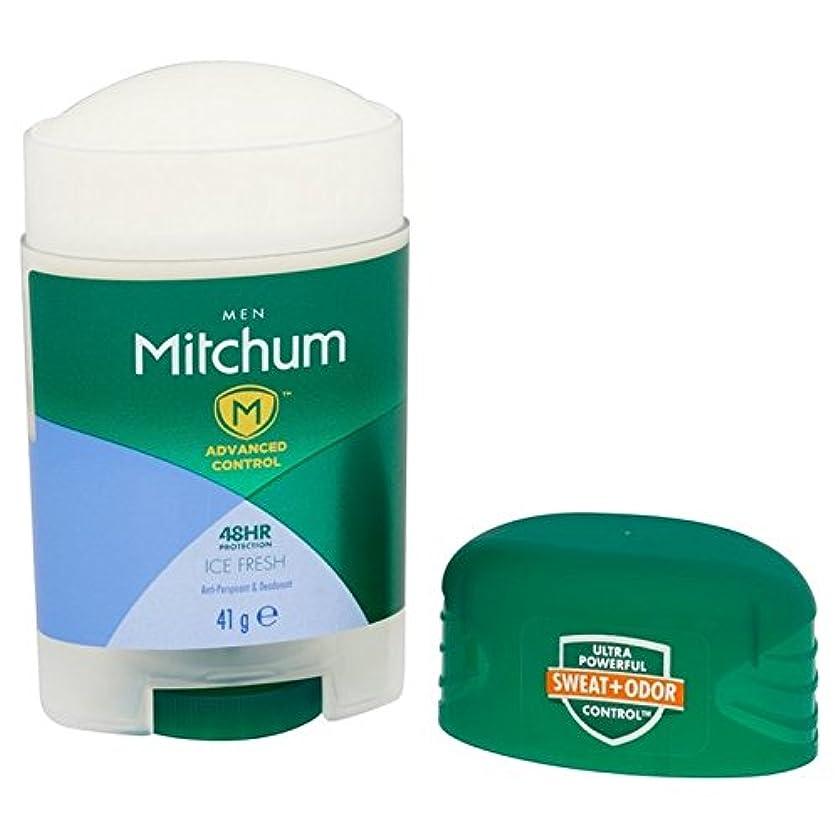 レパートリー破壊おなじみのミッチャム男性はアイスフレッシュデオドラントスティック41とを高度な x2 - Mitchum Men Advanced Ice Fresh Deodorant Stick 41g (Pack of 2) [並行輸入品]