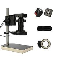 KKmoon 顕微鏡 16M 解像数 1080 p 130倍 工業用顕微鏡 マイクロスコープ 顕微鏡カメラ付き led リモコン