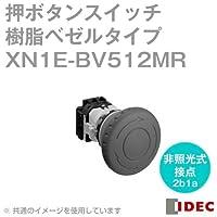 IDEC (アイデック) XN1E-BV512MR φ60特大形 ねじ端子形樹脂ベゼルタイプ 感電防止用カバー付 (非照光式 メイン接点:2b モニタ接点:1a) 赤 NN