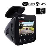 AKASO ドライブレコーダー 1296PフルHD 高画素 ドラレコ GPS搭載 170°広視野角 WIFI機能 高性能センサー WDR 暗視機能 ダッシュカム G-sensor/駐車監視/衝撃録画/動体検知 車載カメラ V1(16GBメモリーカード付き)