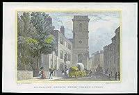 1831ロンドン - 元の骨董品印刷Allhallows教会アッパーテムズストリート(59)