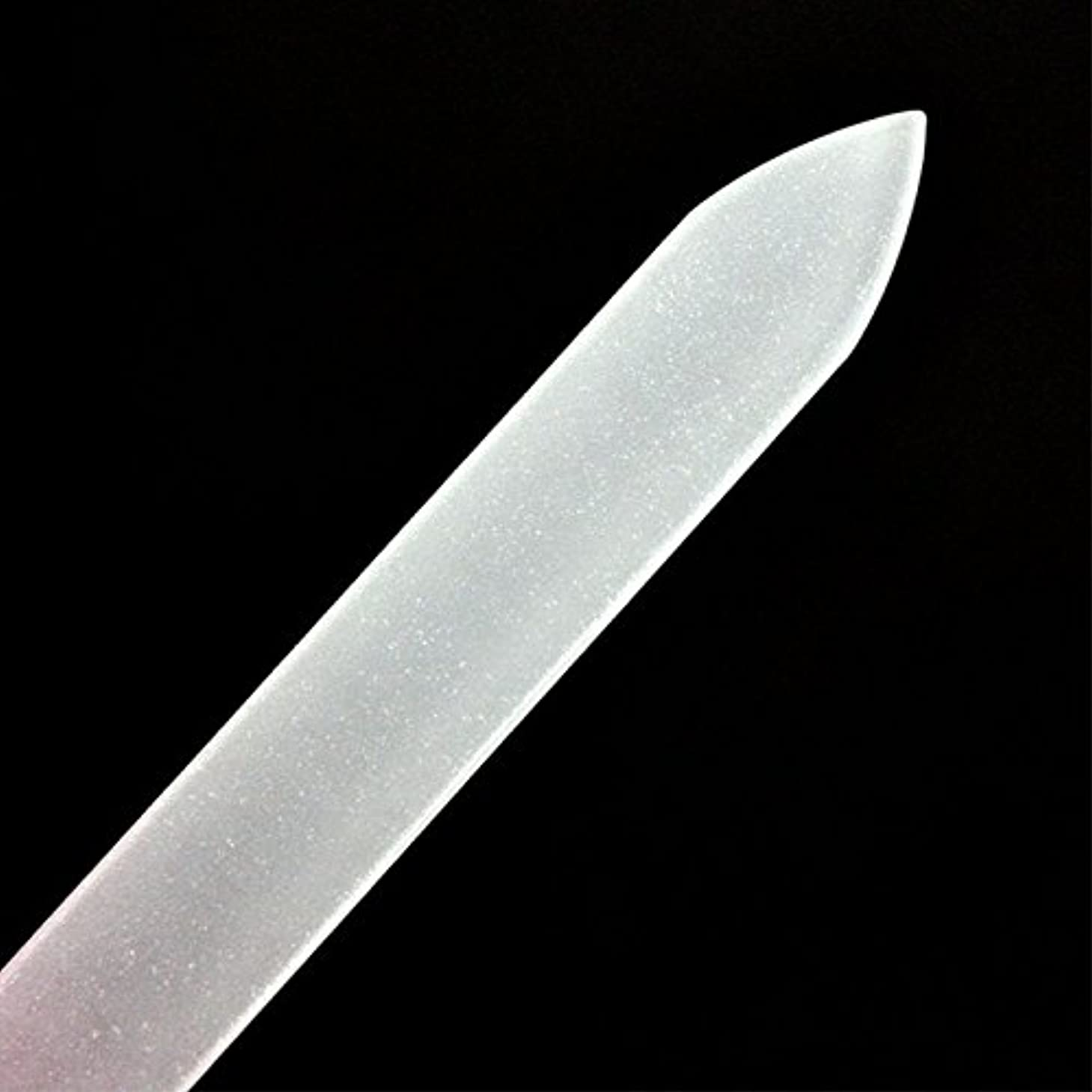 瞑想するエレメンタル間接的爪磨き つめみがき ネイルケア 爪やすり 用品ガラス製爪ヤスリ ガラス製 ケース付 つめやすり甘皮 ケア