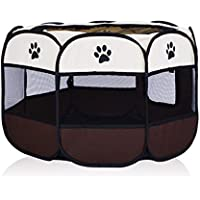 Pet Carrier Seat Folding Octagonal Pet Tent Cat Delivery Room Small Closed Cat Cage Cat Litter Fence Puppies Kennel Production Box Cat Pet Waterloo Pet Carrier Crate