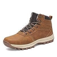 [ダント] スノーブーツ メンズ 防寒靴 保暖 裏起毛 スノーシューズ 綿靴 雪靴 冬用 ウィンターブーツ(C-ブラウン,29.0cm)