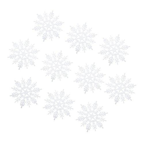 [해외]SONONIA DIY 장식 10 개 세트 플라스틱 눈송이 눈송이 액세서리 전체 2 크기 선택할/SONONIA DIY 10 pieces of decorative items plastic snowflake snow crystal accessories 2 sizes to choose