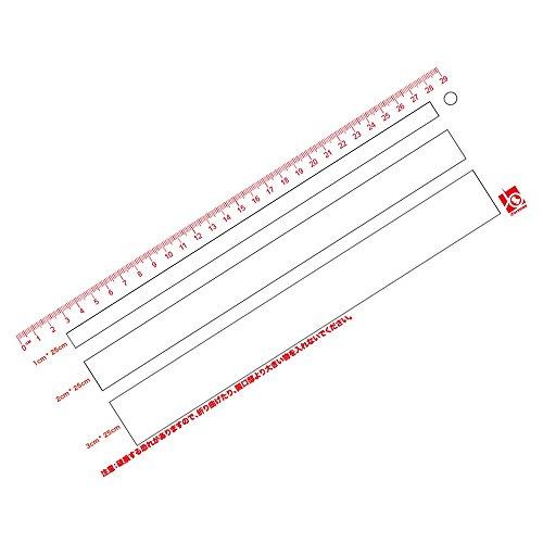 iFormosa 出品者用 強度2倍 定形外郵便 ゆうパケット 専用 スケール クロネコDM便 クリックポスト レターパックライト専用 1-3cm 厚さ測定定規 IF-SCL-17A