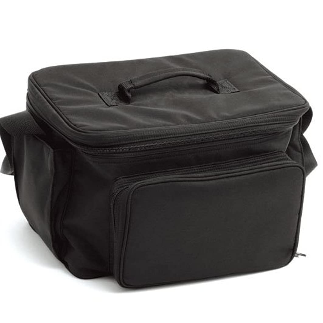 カエル貴重なジョリーLIFEBEAUTY コスメバック ブラック ソフトタッチのナイロン生地 W320×D250×H220mm