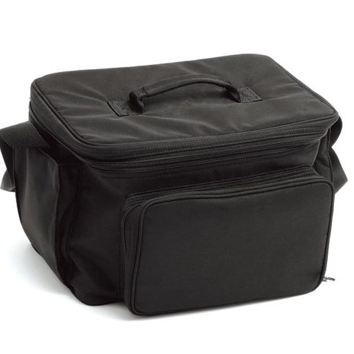 人形寮胸LIFEBEAUTY コスメバック ブラック ソフトタッチのナイロン生地 W320×D250×H220mm