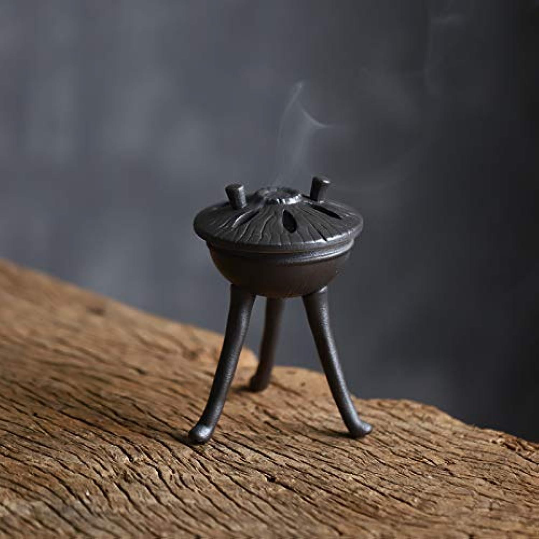 立ち向かうテレビを見るインカ帝国PHILOGOD 陶器香炉 三足仏壇用巻き線香 香立て 香置物 陶器香皿 お香 ホルダー