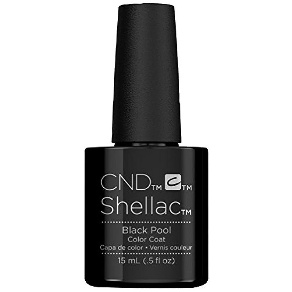 仕える普通の横たわるCND Shellac - Limited Edition! - Black Pool - 15ml / 0.5oz