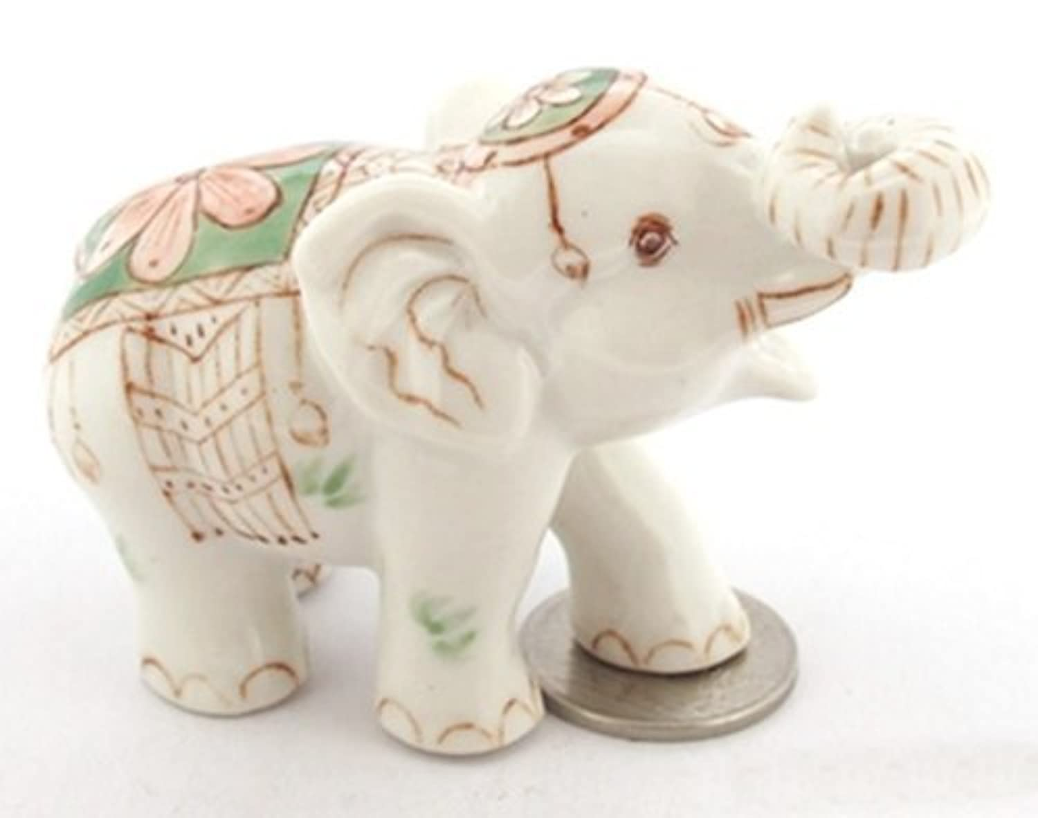 3 D Ceramic Toy Color Elephant Incense Dollhouse Miniatures Free Ship by ChangThai Design [並行輸入品]