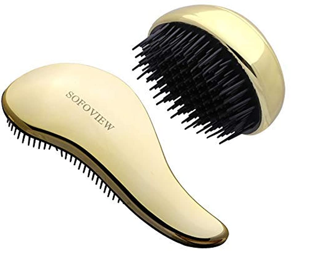 つかの間振る舞う秋SOFOVIEW Detangler Hair Brush Set,Pocket Travel Size + Pro Brush,Glide Thru Hair Comb,No Pain Gentle Straightening...