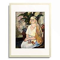 シュザンヌ・ヴァラドン Suzanne Valadon 「Portrait of Germaine Utter. 1922」 額装アート作品