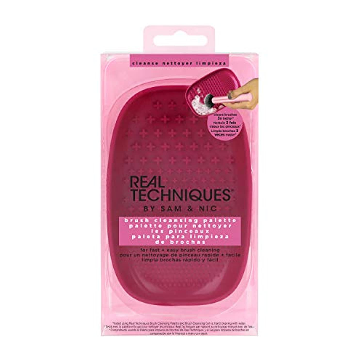 三角形正午アコーReal Techniques brush cleansing palette (並行輸入品)