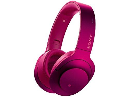 ソニー SONY ワイヤレスノイズキャンセリングヘッドホン h.ear on Wireless NC MDR-100ABN : Bluetooth/ハイレゾ対応 マイク付き ボルドーピンク MDR-100ABN P