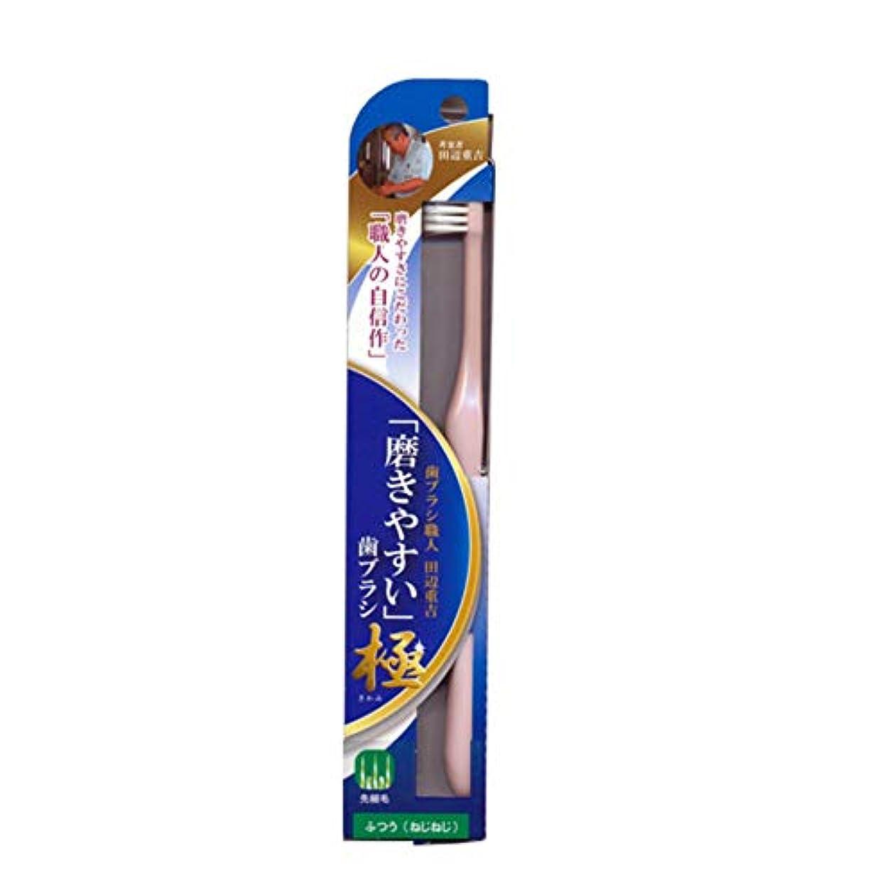 自治的専ら比較的磨きやすい歯ブラシ極 (ふつう ねじねじ) LT-45 先細毛(色選択不可)