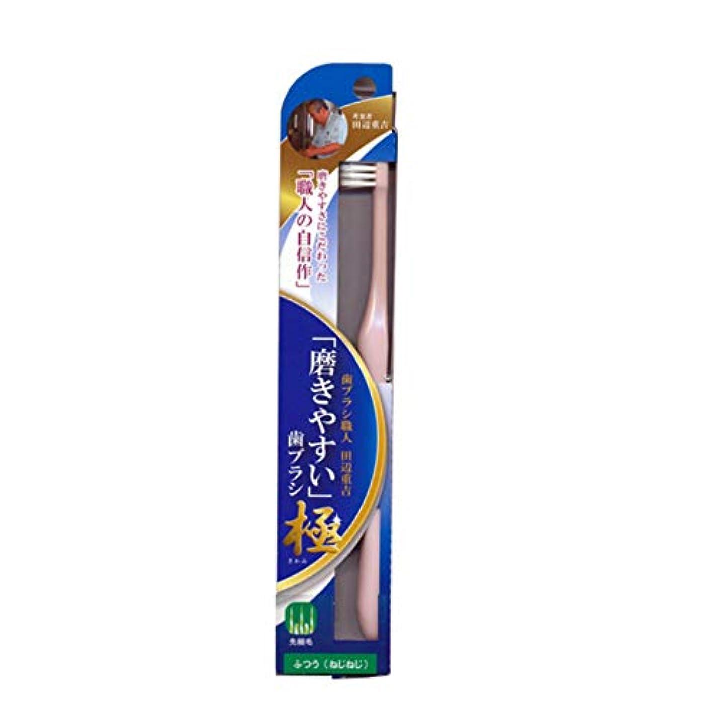 ゲートウェイ標準ご予約磨きやすい歯ブラシ極 (ふつう ねじねじ) LT-45 先細毛(色選択不可)
