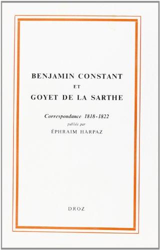 Correspondance (1818-1822)