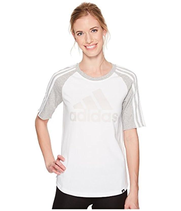 悪の動かない暗殺者(アディダス) adidas レディースタンクトップ?Tシャツ Badge of Sport Baseball Tee White/Medium Grey Heather XL