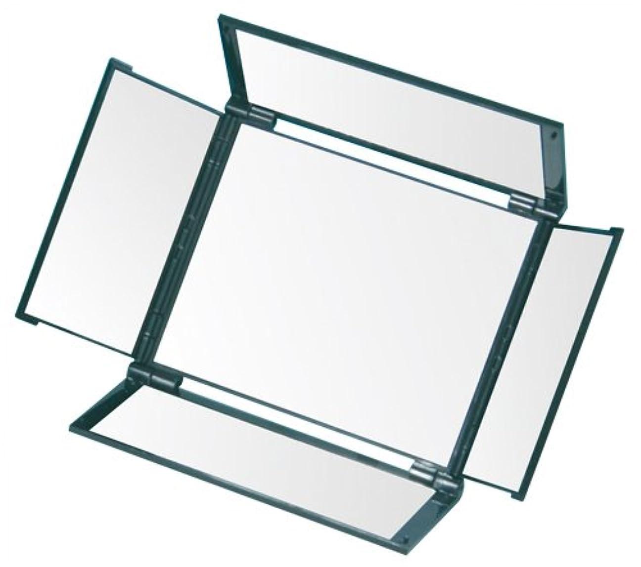 苗株式裂け目オールラウンドミラー(5面鏡) HA-5 メタリックブラック