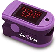 Zacurate Pro Series 500DL Fingertip Pulse Oximeter Blood Oxygen Saturation Monitor with Silicon Cover, Batteri