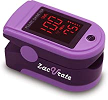 Zacurate Pro Series 500DL Fingertip Pulse Oximeter Blood Oxygen Saturation Monitor with Silicon Cover, Batteries &...