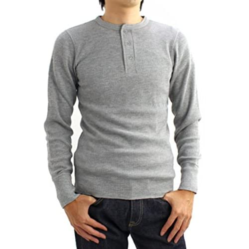 (アヴィレックス)AVIREX DAILY THERMAL HENLYNECK TEE 6153516 14GREY GREY S Tシャツ