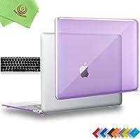 "ueswill 2in1光沢クリスタルクリアSee ThroughハードシェルケースwithシリコンキーボードカバーMacbook Air +マイクロファイバークリーニングクロス MacBook 12"" UES07C12M2-06"