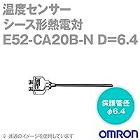 オムロン(OMRON) E52-CA20B-N D=6.4 温度センサ 端子露出形 (保護管長 20cm φ6.4) NN